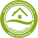 """BestFewo.de – aktuelles """"Urlaub mit Vertrauen Zertifikat"""" für einfache Buchungsprozesse und Top-Kundenservice."""