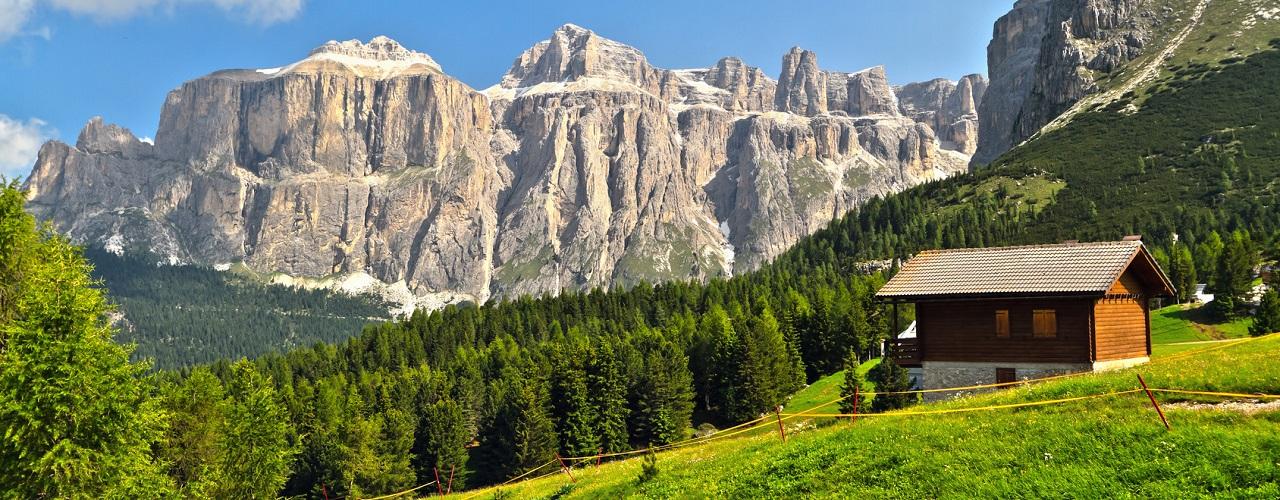 Urlaub in einer Berghütte